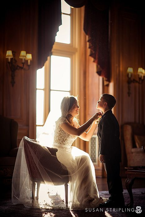 Oheka Castle Wedding, bride with ring bearer, winter wedding
