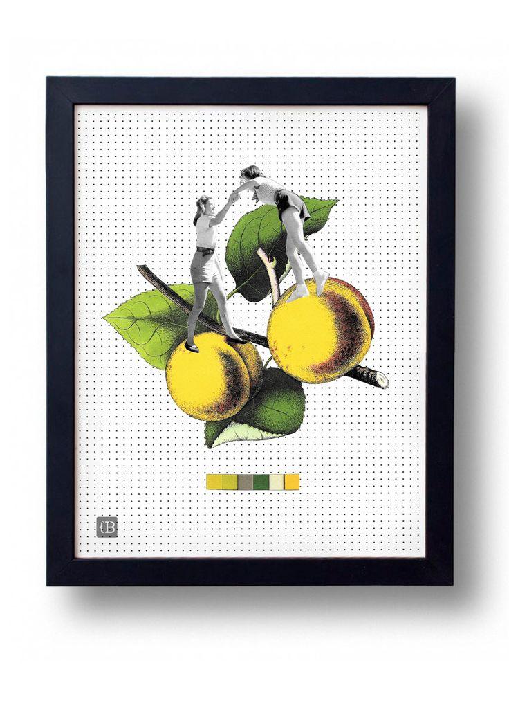 Friends by Kinga Berkowska; collage papercuting