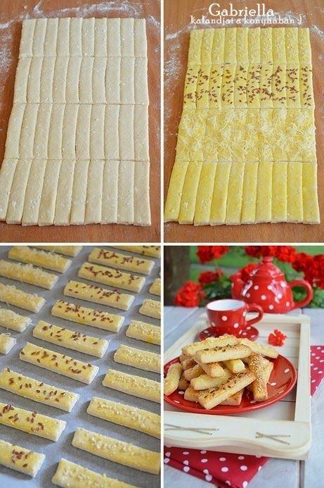 Gabriella kalandjai a konyhában :): Gyors sajtos-túrós rudak