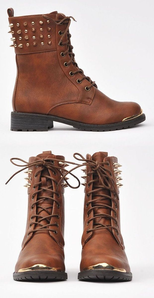 Spiked Combat Boots , i love them!