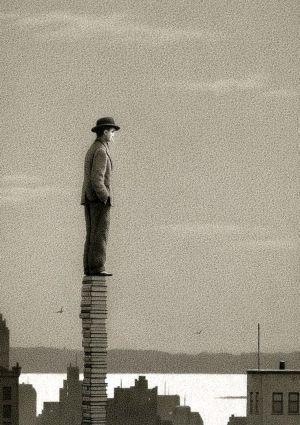 """""""L'uomo non esiste veramente che nella lotta contro i propri limiti…"""" (Ignazio Silone)  Buon 1° Maggio a Tutti!!        la redazione de """"imieilibri.it"""" (http://www.imieilibri.it)  Illustrazione di Quint Buchholz"""