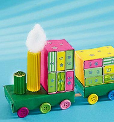 DIY Matchbox train advent calendar - upcycling craft // Gyufás skatulya vonat - adventi kalendárium gyerekeknek // Mindy - craft tutorial collection // #crafts #DIY #craftTutorial #tutorial