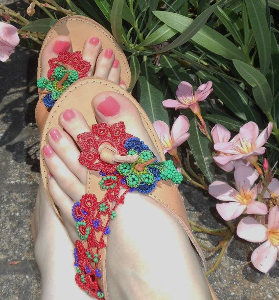 Magic SANDALS  FREE SHIPPING Best Seller Leather Greek by ENOTIA