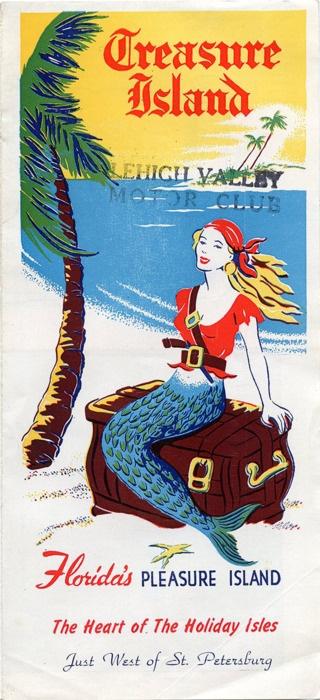 Treasure Island Florida. Vintage ad.