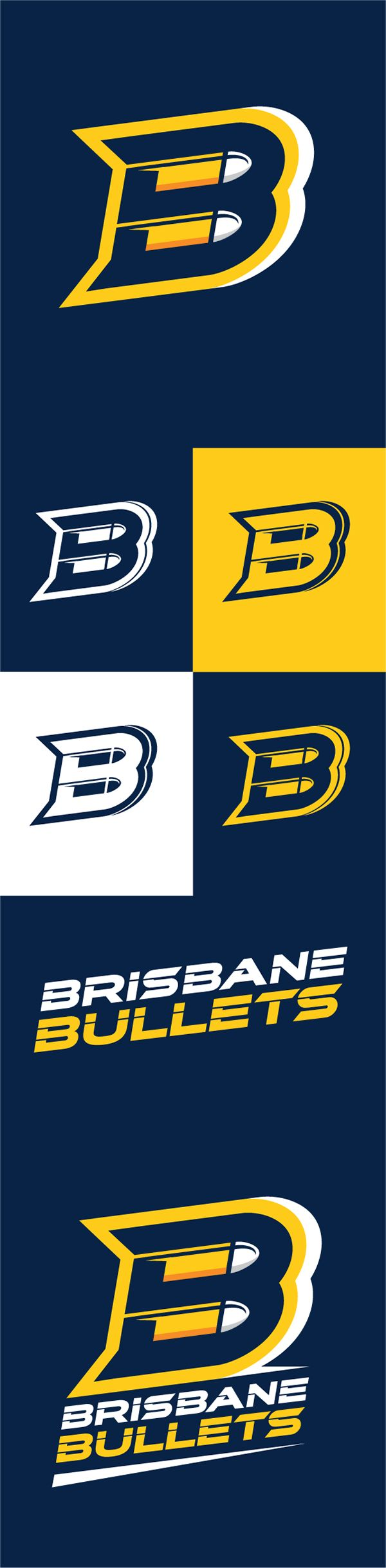 A conceptual Branding exercise for the Brisbane Bullets of the NBL.