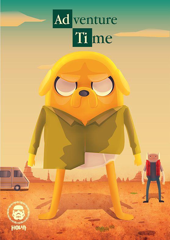 Breaking Bad + Adventure Time by Cristhian Hova in Lima, Peru Links: Behance / Facebook / Twitter / Arte Manifesto