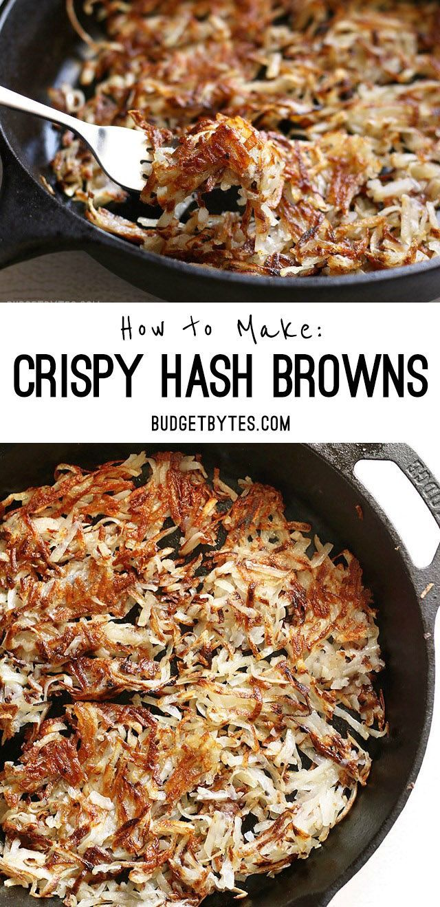 In just a few simple steps, you can make perfectly golden brown crispy hash browns at home. Learn the tricks to make them perfectly crisp and delicious. - @budgetbytes