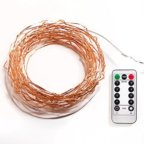 LED String Lights with Remote Control, Timer and 8 Working Modes. Batteries not Included - 33 ft (132 LEDs)
