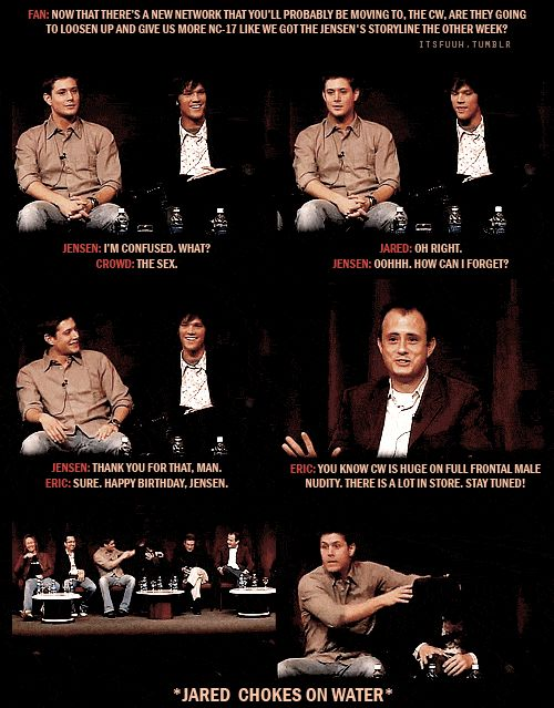 Supernatural convention panel; Jared, Jensen, Kripke If only lol