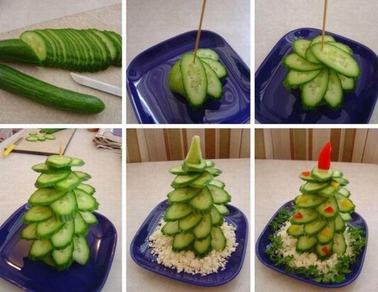 Идея на Новый Год: Овощная закусочная елка / К Новому году / Журнал о еде…