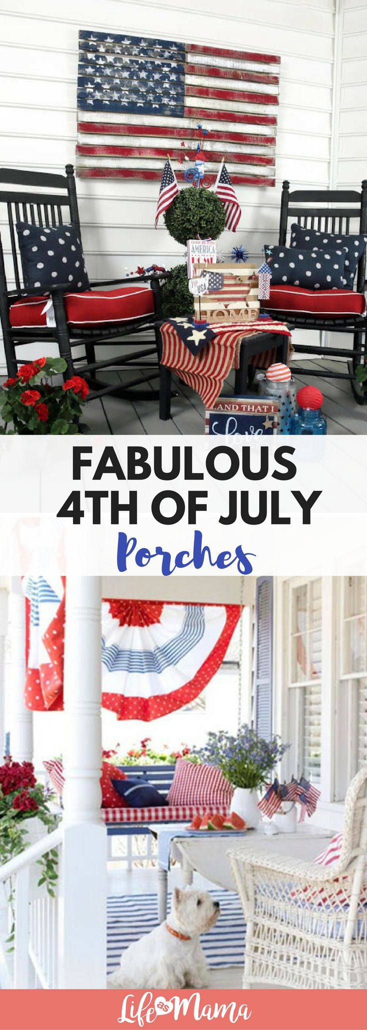 Looking to decorate your porch for the 4th of July? Look no further! These porch decorations are perfect.