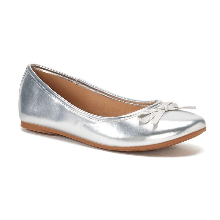 SO® Candy Girls' Ballet Flats, Silver