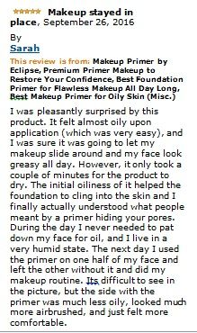 FLAWLESS SKIN, I share this primer with my daughters who are very much into make up and we all love the results.