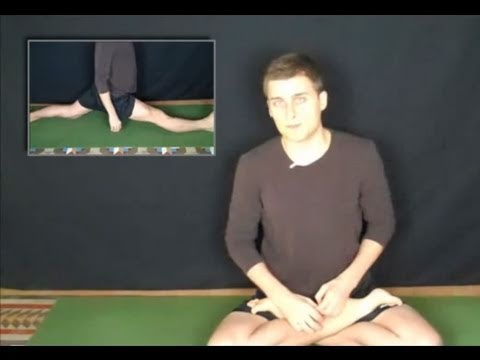 how to do the splits  yoga pnf stretching with images