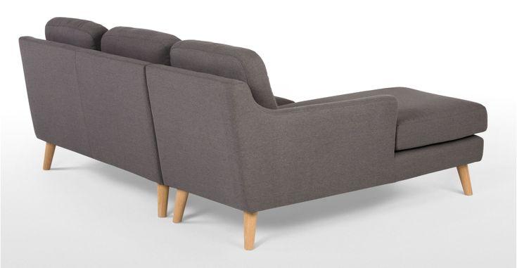 Rufus Left Hand Facing Corner Sofa, Rhino Grey | MADE.com