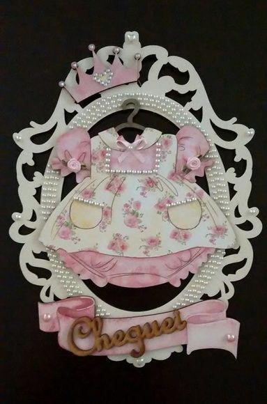 Porta maternidade Menina