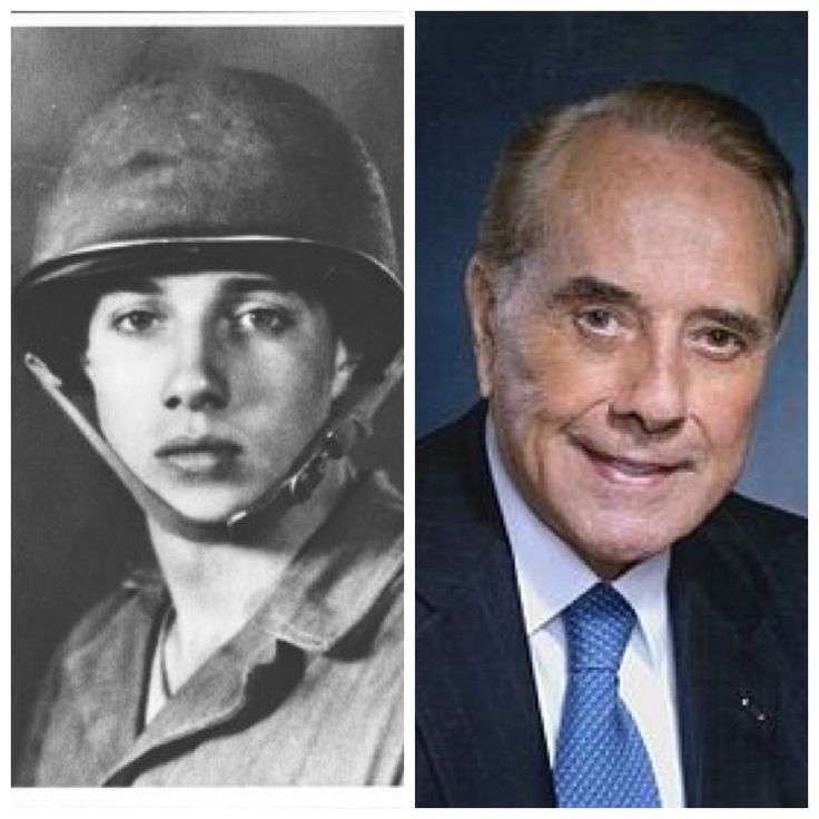 Bob Dole-Army-1942-48-WW2-10th Mountain Division-Bronze Star, 2 Purple Hearts (Kansas Senator, Senate Majority Leader)