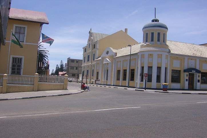 Die Stadt Swakopmund in Namibia