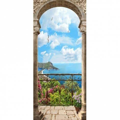 3d door sticker wall sticker mural home decor garden pilar on walls coveralls website id=91038