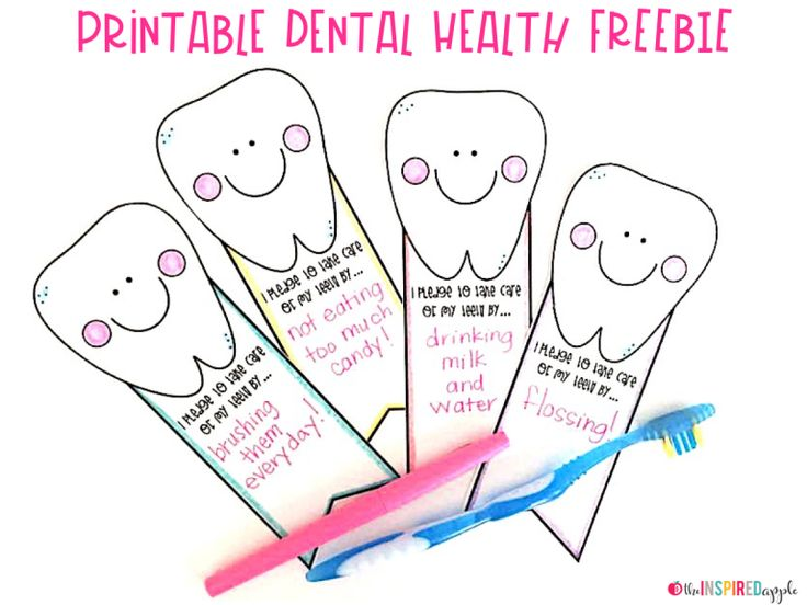 Dental health activity and free printable babbling abby