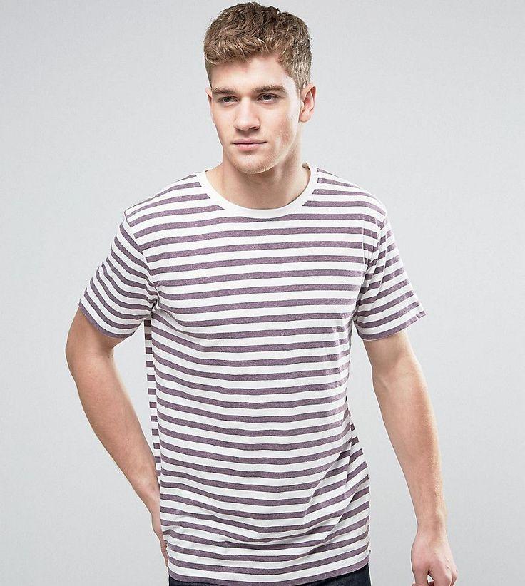 Brooklyn Supply Co Plum Breton Stripe T-Shirt - Purple