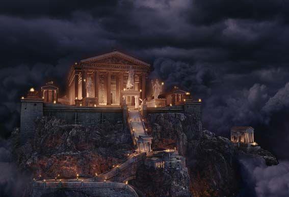 Mont Olympe Residence Des Dieux Mont Olympe Olympe Mythologie Grecque