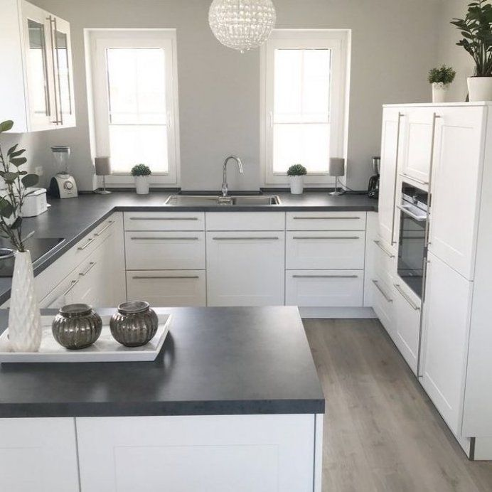 Instagram Landhaus K che kitchen modern grau wei grey ...