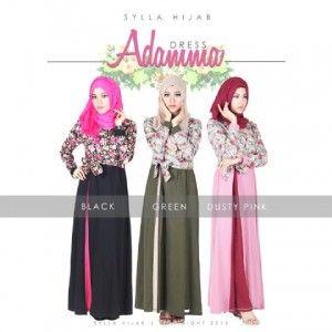 Baju Gamis Model Terbaru Adamma Dress distromuslimah.net/baju-gamis-model-terbaru-adamma-dress/