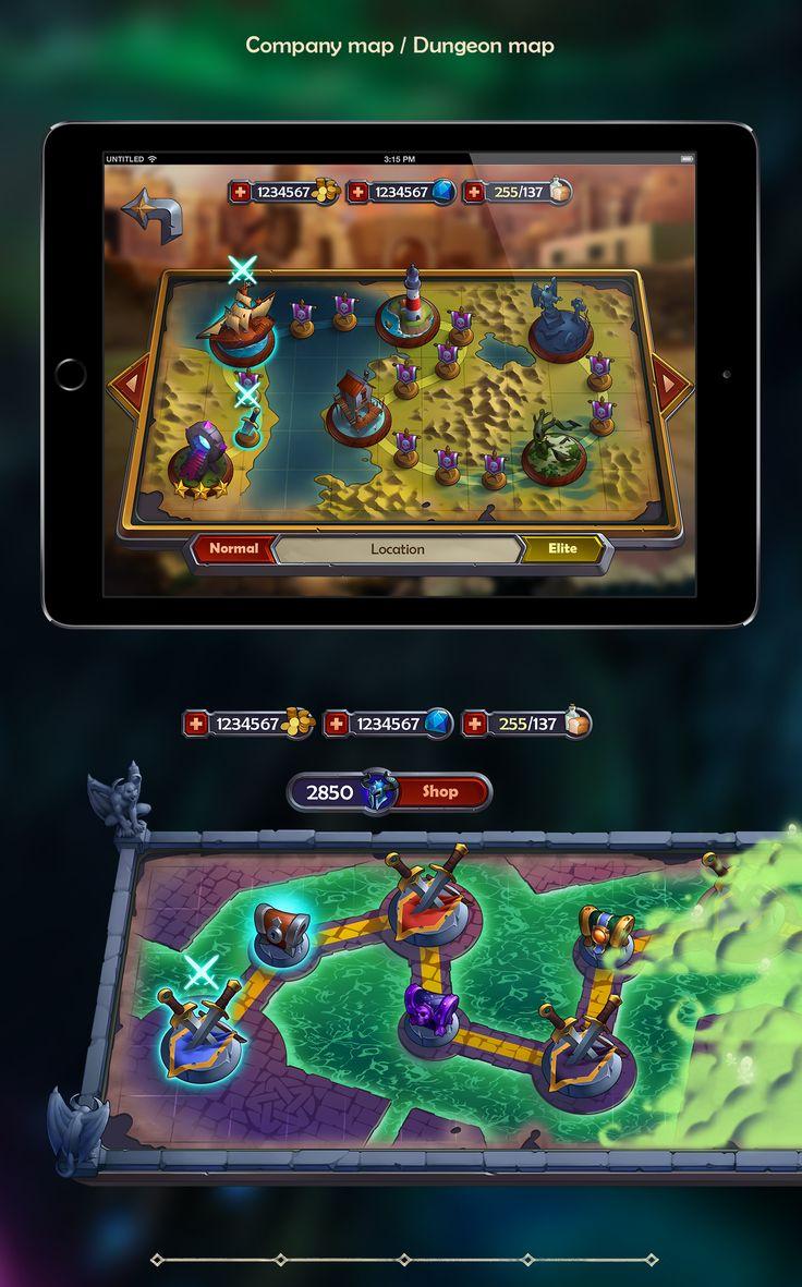 League of Heroes UI Design & Art on Behance