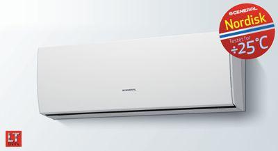 Designmodellen varmepumpe fra produktoversikt | General  Alle Designmodellene har en slank og moderne form. Kombinasjonen av stilig utseende og intelligente funksjoner gjør denne serien til en bransjeleder! Ikke bare i form, men også i funksjon. Et velkomment tillegg til alle rom i din bolig.