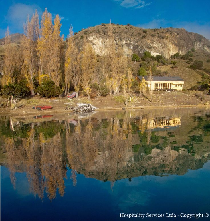 Photo: Hospitality Services Ltda - Copyright © When the Patagonian winds decide to take a break, our guest are able to get great pictures of the island with its own reflect. Stay at Isla Macías on the General Carrera Lake in Aysén, Chilean Patagonia.
