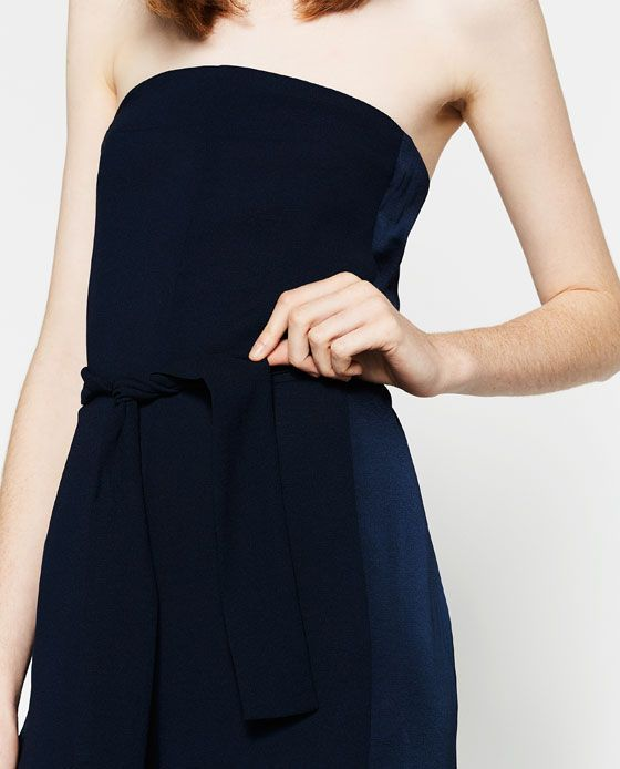 Image 6 of STRAPLESS JUMPSUIT from Zara