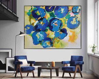 Handmade Extra Large Contemporary Painting Huge door CelineZiangArt