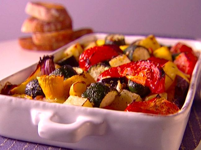 All veggies!  Food Network invites you to try this Greek Caponata recipe from Giada De Laurentiis.