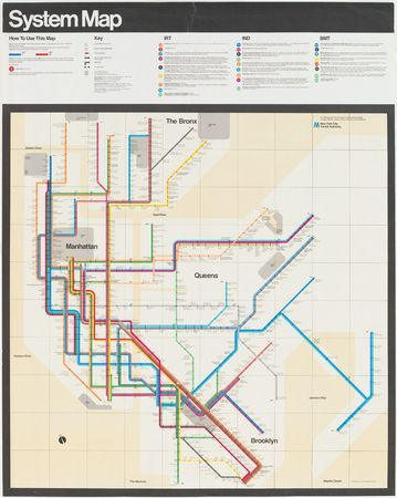 MoMA.org | The Collection | Massimo Vignelli. New York Subway Map. 1970