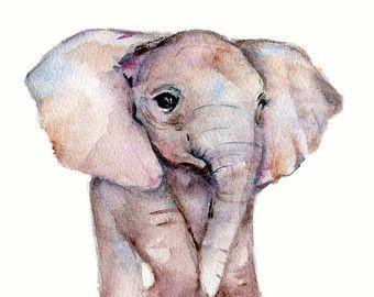 Olifant aquarel schilderij-  Verticale lettertjes van een baby-olifant uit mijn originele aquarel schilderij Gebruik de daling onderaan doos om te selecteren uw maat... 5 x 7 inch, 8 X 10 inch of 11 X 14 inch  gedrukt op 100% archivering katoen rag kunst papier - 2 kleuren beschikbaar... wit of natuurlijke wit/gebroken wit  Epson Ultra chroom archival pigment inkten worden gebruikt  afdrukken worden verzonden binnen een beschermhoes binnen een stijve foto-mailer  Copyright mark verschijn...