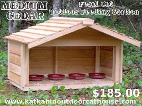 Medium Cedar Feral Cat Outdoor Feeding Station - #mediumcedarferalcatoutdoorfeedingstation #insulatedoutdoorcatshelters #outdoorcatenclosures #feralcathouse #outdoorcathouseplans #outdoorcathouseforwinter #outdoorheatedcathouse #outsidecatshelters #outdoorcathouses #outdoorcatsheltersforsale #outdoorcatsheltersandfeedingstations #outsidecathouse #outsidecatenclosures #insulatedoutdoorcathouse