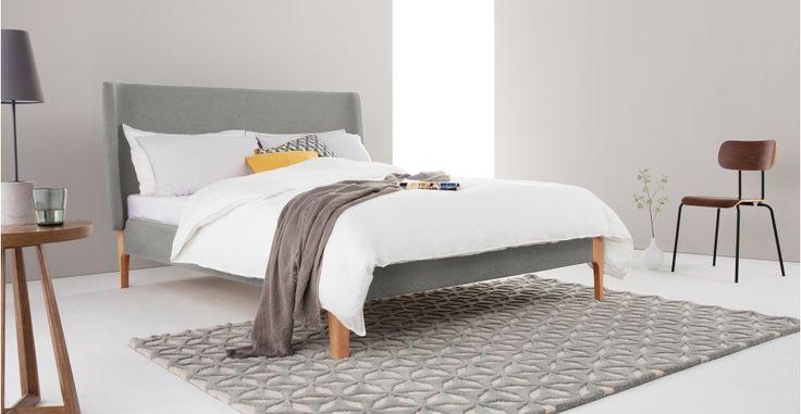 Roscoe Kingsize Bed, Grey | made.com