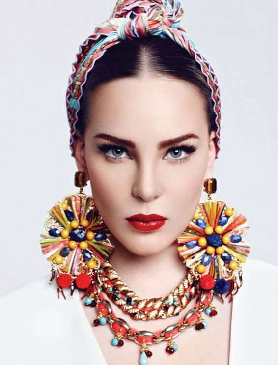 Fashion spread for Marie Claire June 2013 issue ft. Belinda. Inspiration: Carmen Miranda's style.