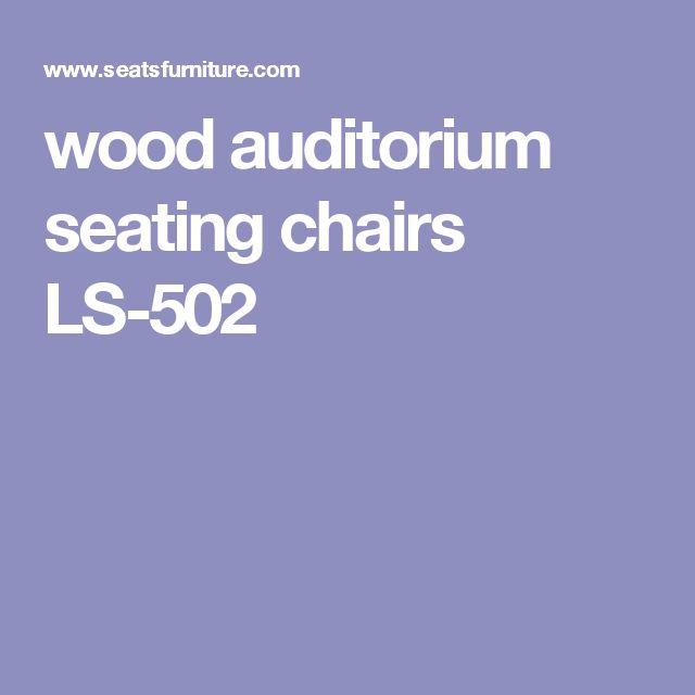 wood auditorium seating chairs LS-502