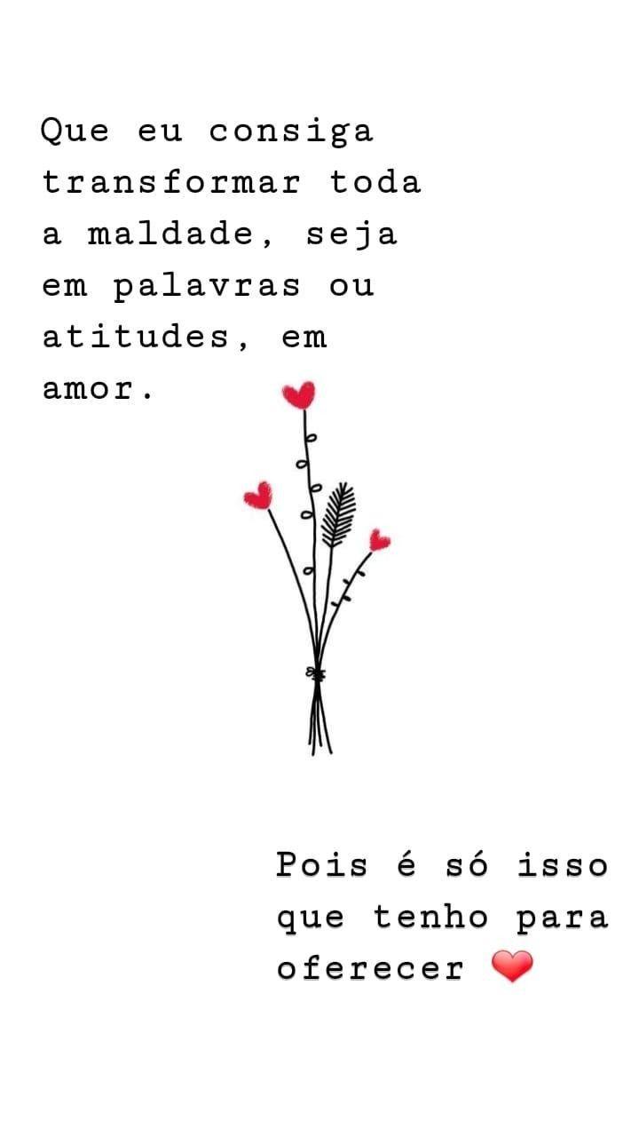 Frase Amor Gratidão Histories Instagram Pin Preto E