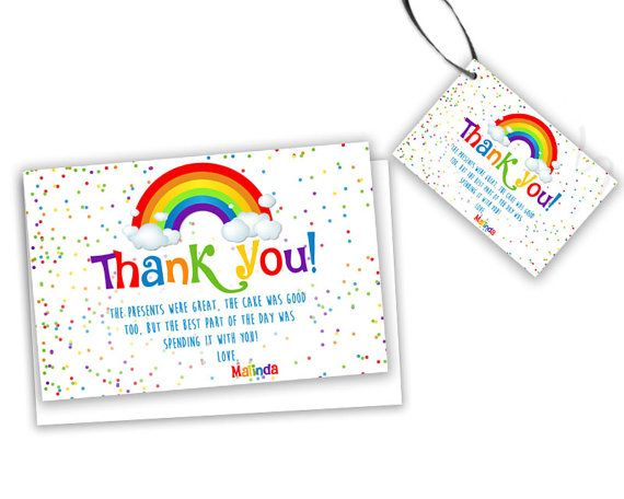 40 best childrens birthday party thank you cards images on rainbow party tags rainbow birthday thank you cards rainbow 1st birthday rainbow baby shower confetti thank you card girl bookmarktalkfo Image collections