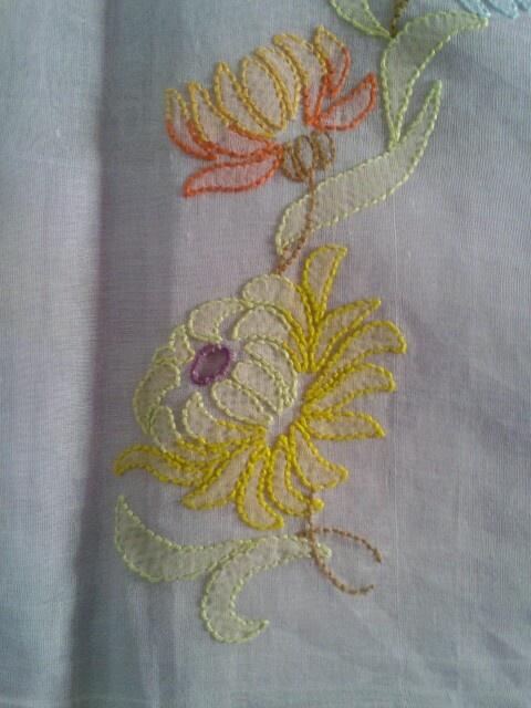 Shadow Work / Chikankari Embroidery on saree.