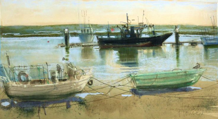 Home From the Catch . Santa Luzia.      pastel . Felicity House PS