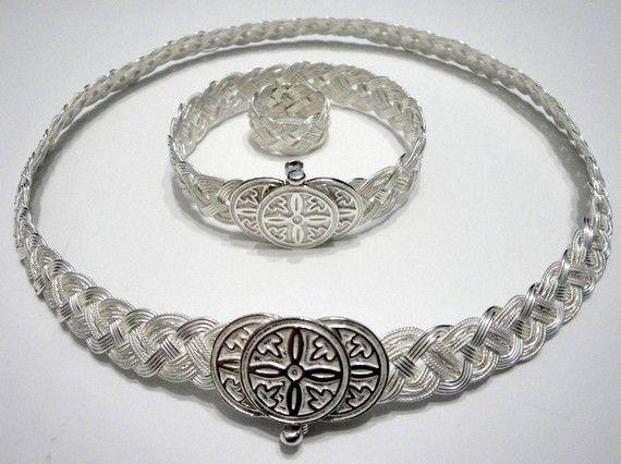 OOAK Necklace Bracelet and Ring Set   $2575.00