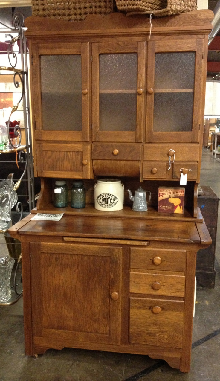 Antique kitchen cupboard - Antique Wooden Stepback