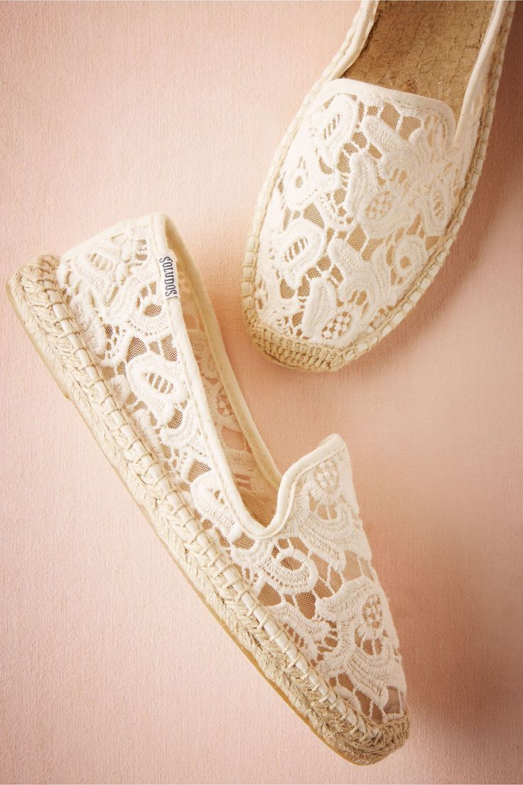 BHLDN l Geraldine Espadrille Flats l Beach & Honeymoon l Lace Flats l www.CarolinaDesigns.com