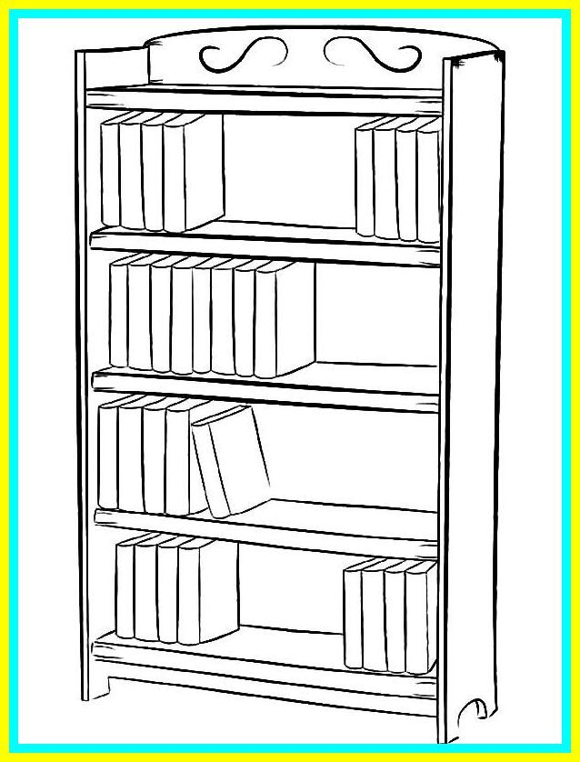128 Reference Of Simple Bookshelf Drawing Simple Bookshelf Bookshelves Library Drawing