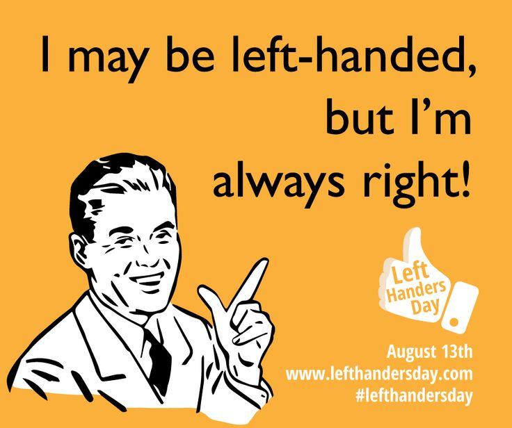 Left handlers day - August 13