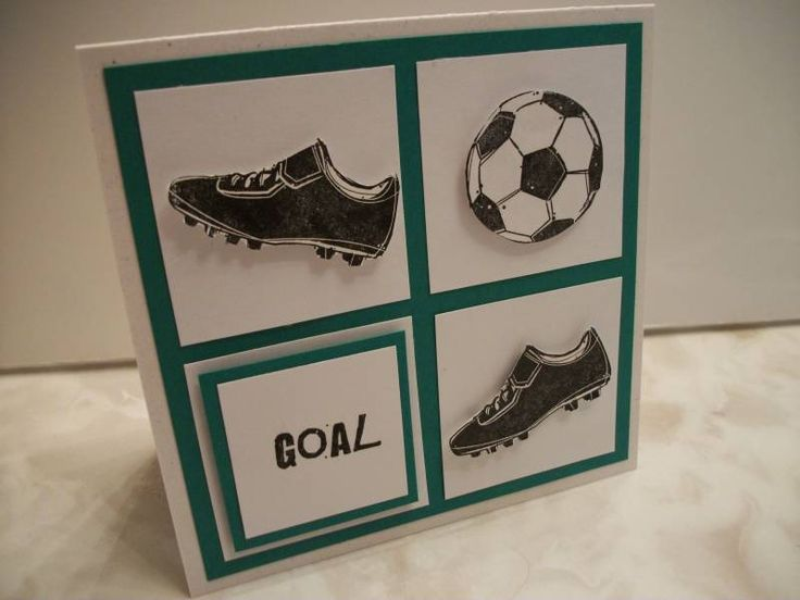 Goal!  (WT260, CCEE1009)  I really like the soccer shoes and the layout of these card.  Nicely done.